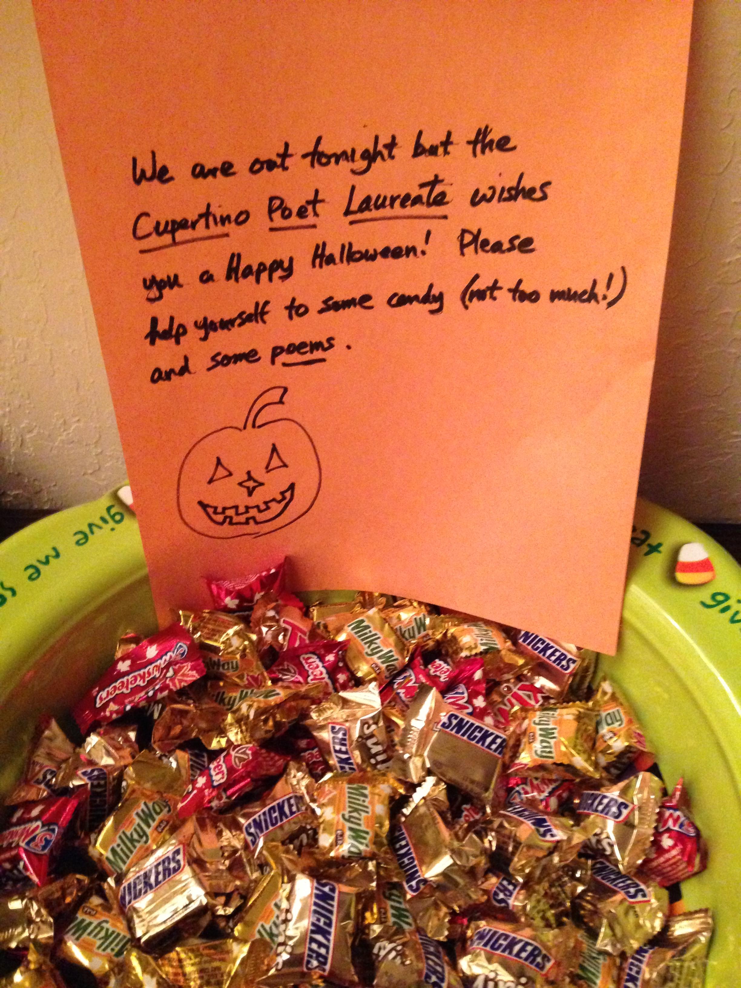 halloween poems (in february) – cupertino poet laureate