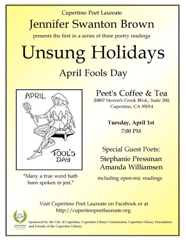 Poetry Reading April 1, 2014