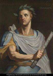 julius ceasar with laurel wreath