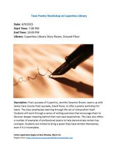 Teen Poetry Workshop at Cupertino Library