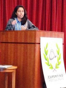 Juhi presenting