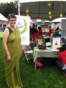 diwali jen with poetry booth and sari website