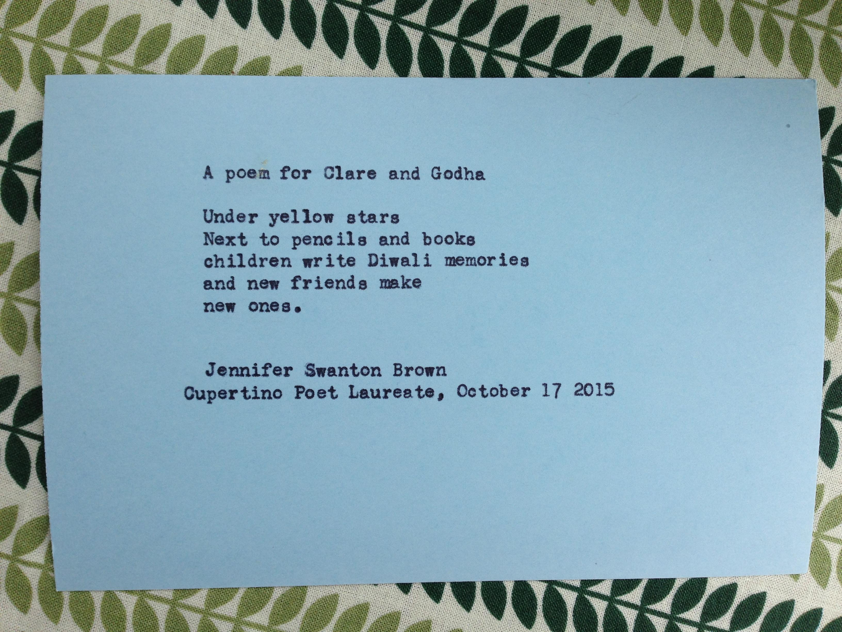 International Poetry – Cupertino Poet Laureate