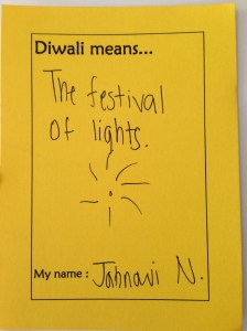 Diwali yellow poem card sample