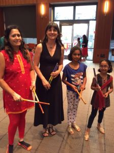Library Diwali Amanda and friends from Amanda