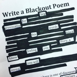 Write a Blackout Poem