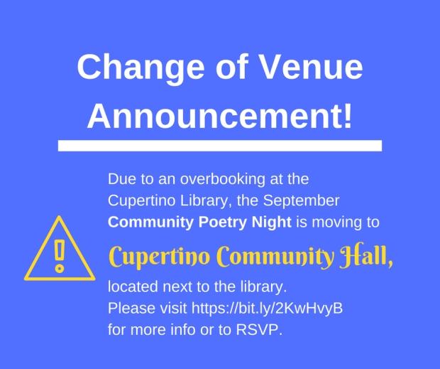 Change of Venue Announcement! (1)